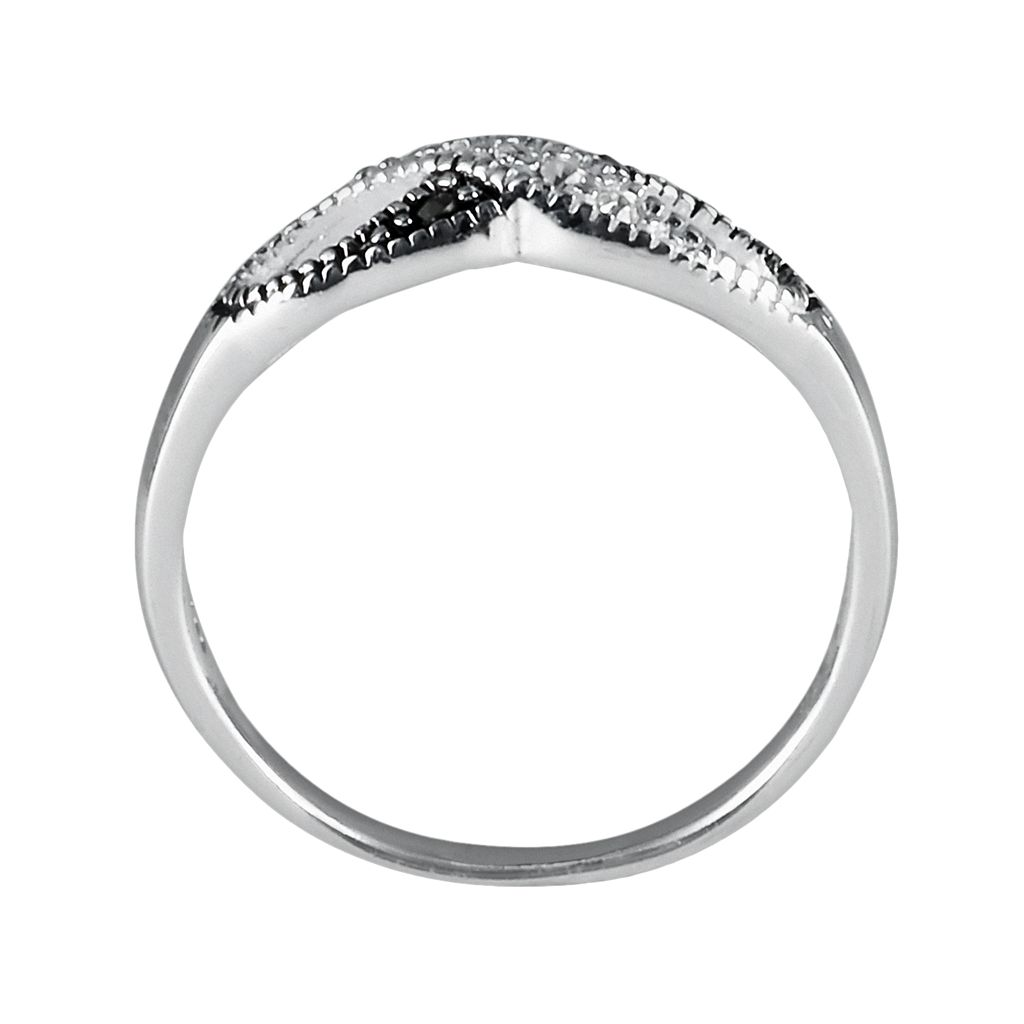 Sterling Silver Marcasite Infinity Ring