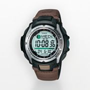Casio Pathfinder Leather Fishing Digital Watch - Men
