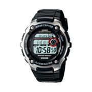 Casio Waveceptor Stainless Steel Atomic Chronograph Digital Watch - Men