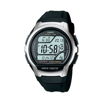 Casio Waveceptor Atomic Chronograph Digital Watch - Men