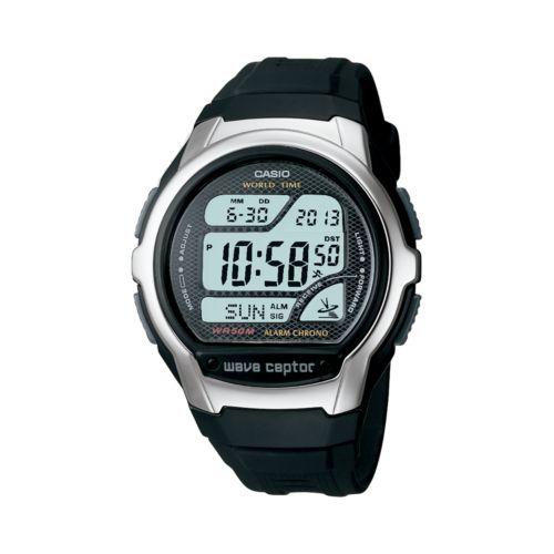 Casio Watch - Men's Wave Ceptor Atomic Black Resin Digital Chronograph