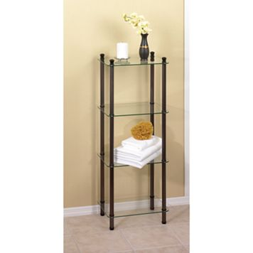 Creative Ware Home 4-Shelf Glass Tower