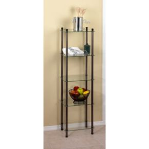 Creative Ware Home 5-Shelf Glass Tower