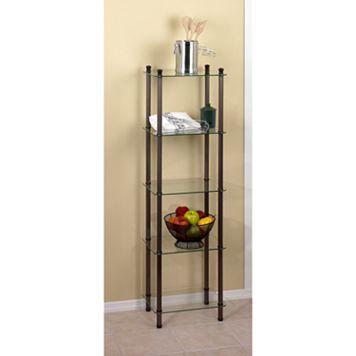 Creative Ware Home 5-Shelf Glass Tower