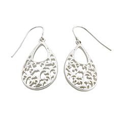 Silver Tone Teardrop Earrings
