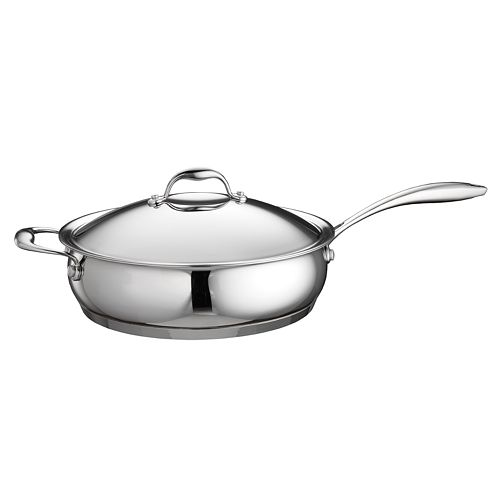 Tramontina Domus 5-qt. Stainless Steel Tri-Ply Covered Saute Pan