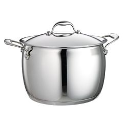 Tramontina Domus 8-qt. Stainless Steel Tri-Ply Covered Stockpot