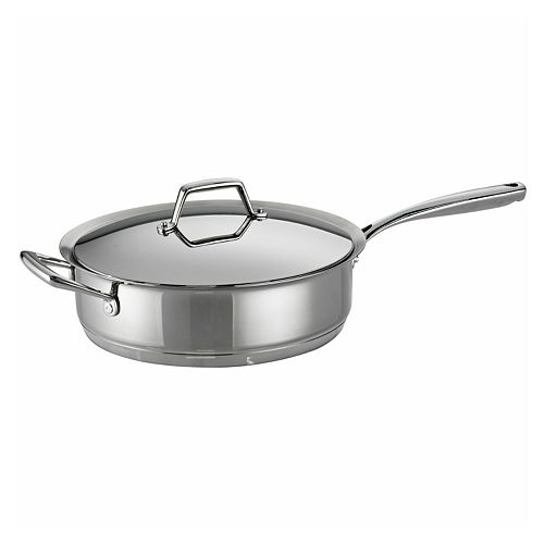 Tramontina Prima 5-qt. Stainless Steel Tri-Ply Covered Saute Pan