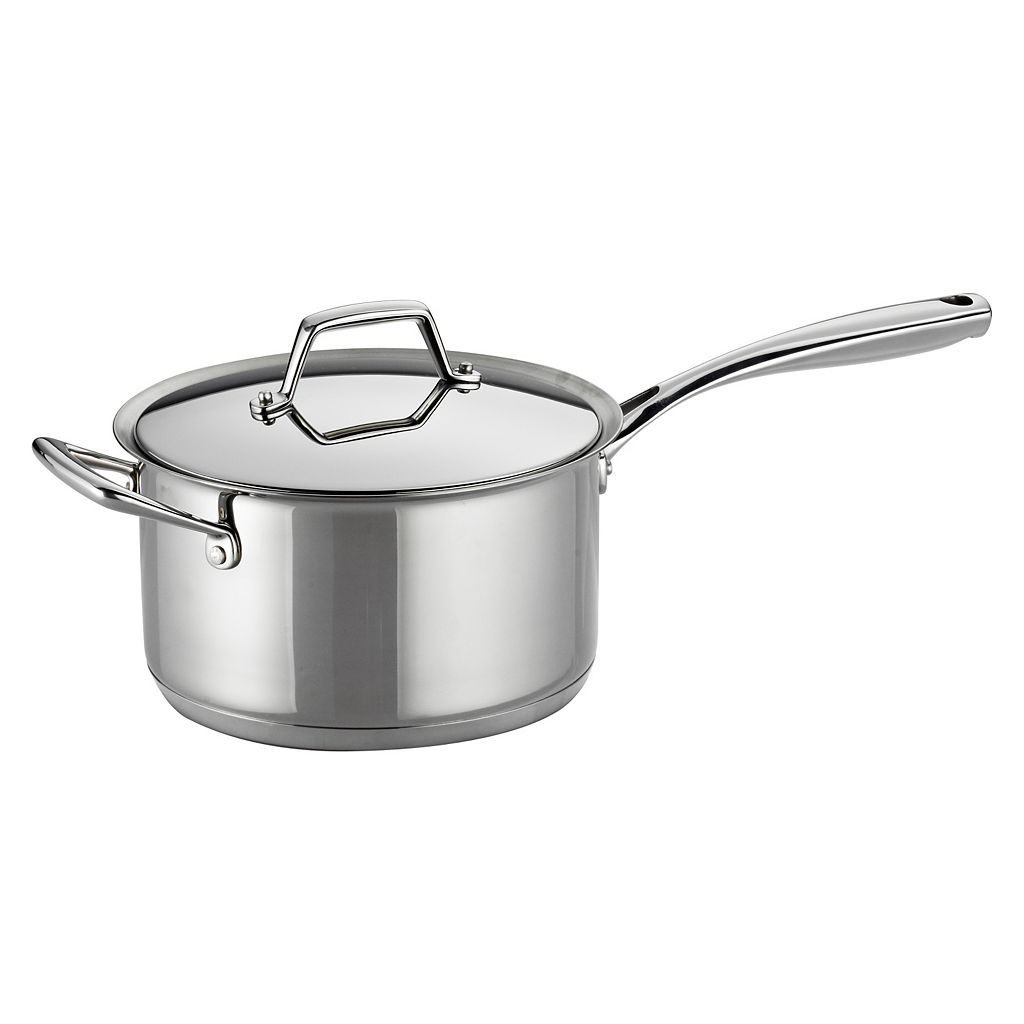 Tramontina Prima 4-qt. Stainless Steel Tri-Ply Covered Saucepan