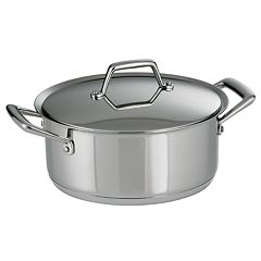 Tramontina Prima 5-qt. Stainless Steel Tri-Ply Covered Dutch Oven