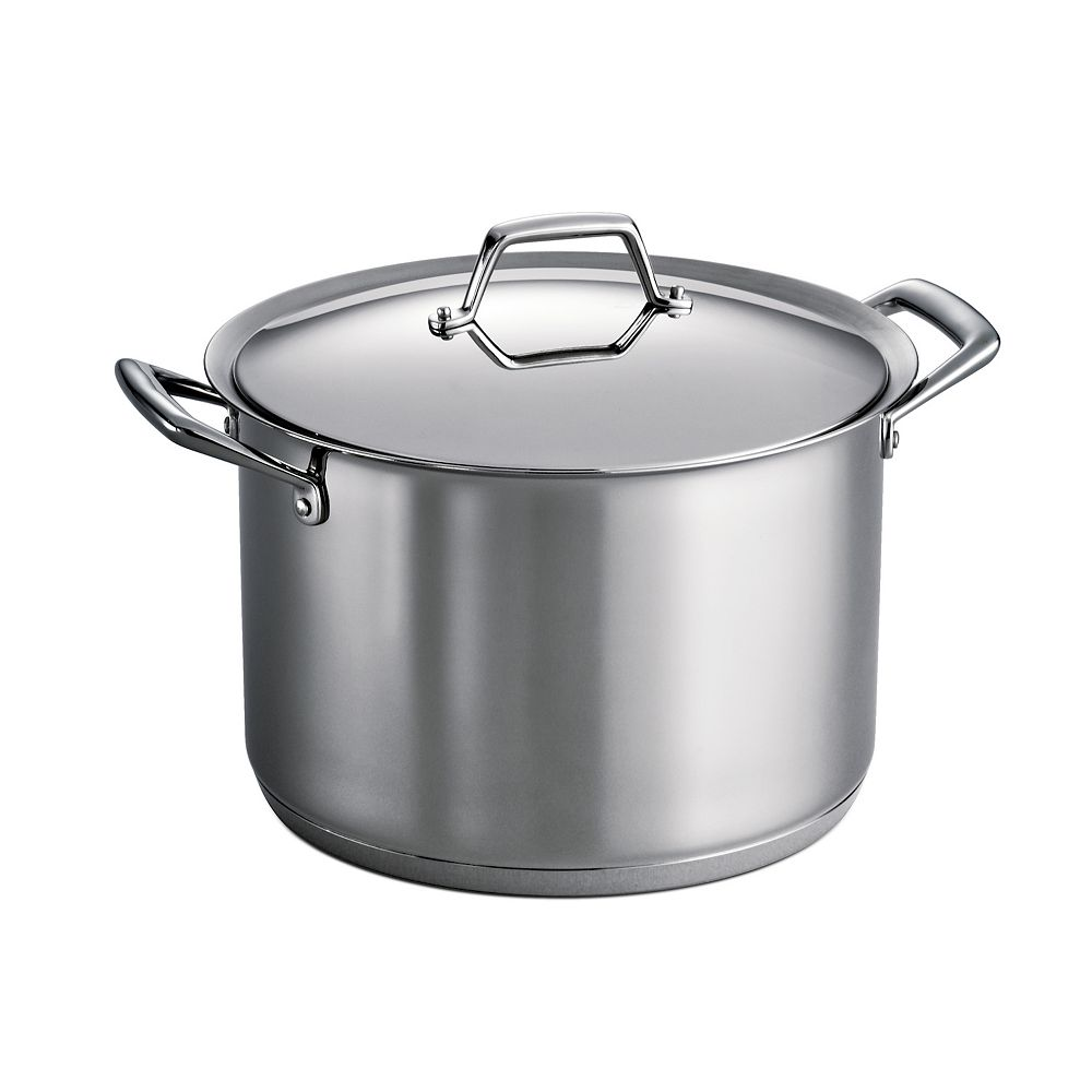 Tramontina Prima 12-qt. Stainless Steel Tri-Ply Covered Stockpot