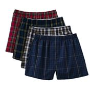 Croft and Barrow 4-pk. Plaid Boxers