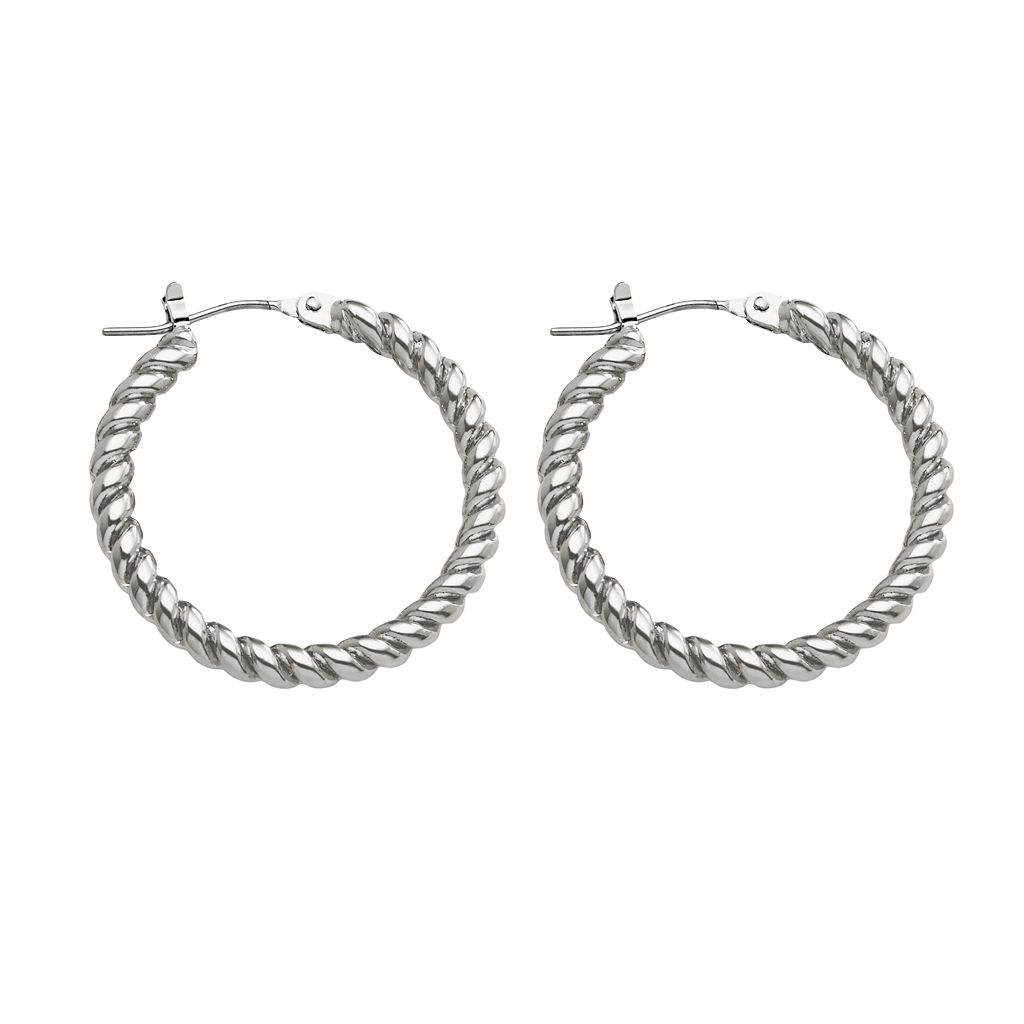 Chaps Twist Hoop Earrings