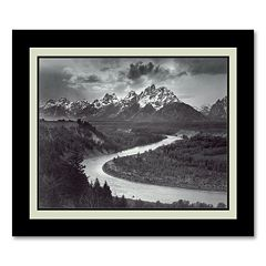 'The Tetons and the Snake River, Grand Teton National Park, Wyoming, 1942' Framed Wall Art
