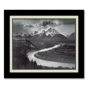 The Tetons and the Snake River, Grand Teton National Park, Wyoming, 1942 Framed Wall Art
