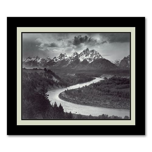 """""""The Tetons and the Snake River, Grand Teton National Park, Wyoming, 1942"""" Framed Wall Art"""