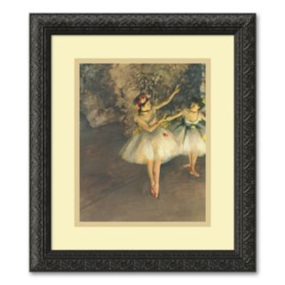 Two Dancers on Stage Framed Wall Art