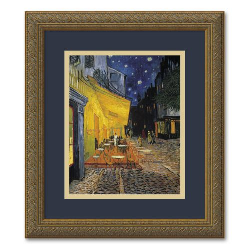 Cafe Terrace at Night Framed Wall Art
