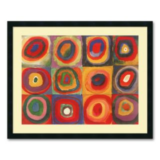 Farbstudie Quadrate Framed Wall Art