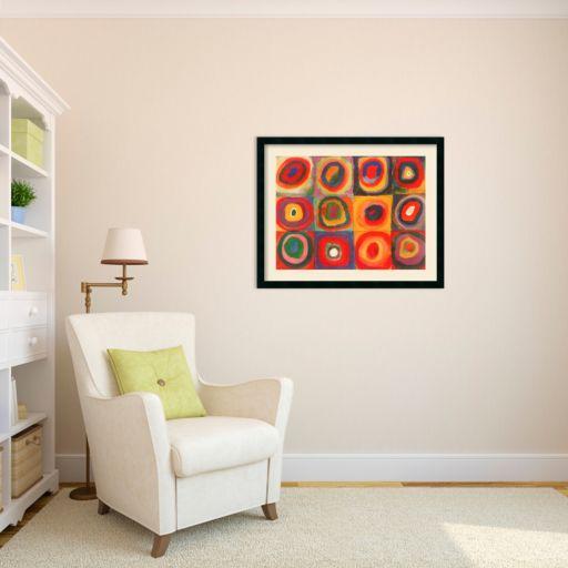 Farbstudie Quadrate Framed Wall Art