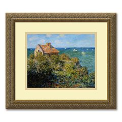 'Fisherman's Cottage on the Cliffs at Varengeville' Framed Wall Art
