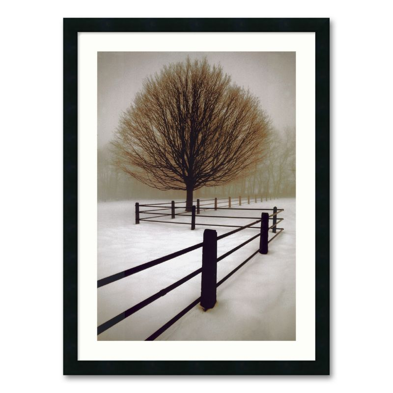 Solitude Framed Wall Art, Black