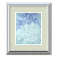 'White Rose with Larkspur, II' Framed Wall Art