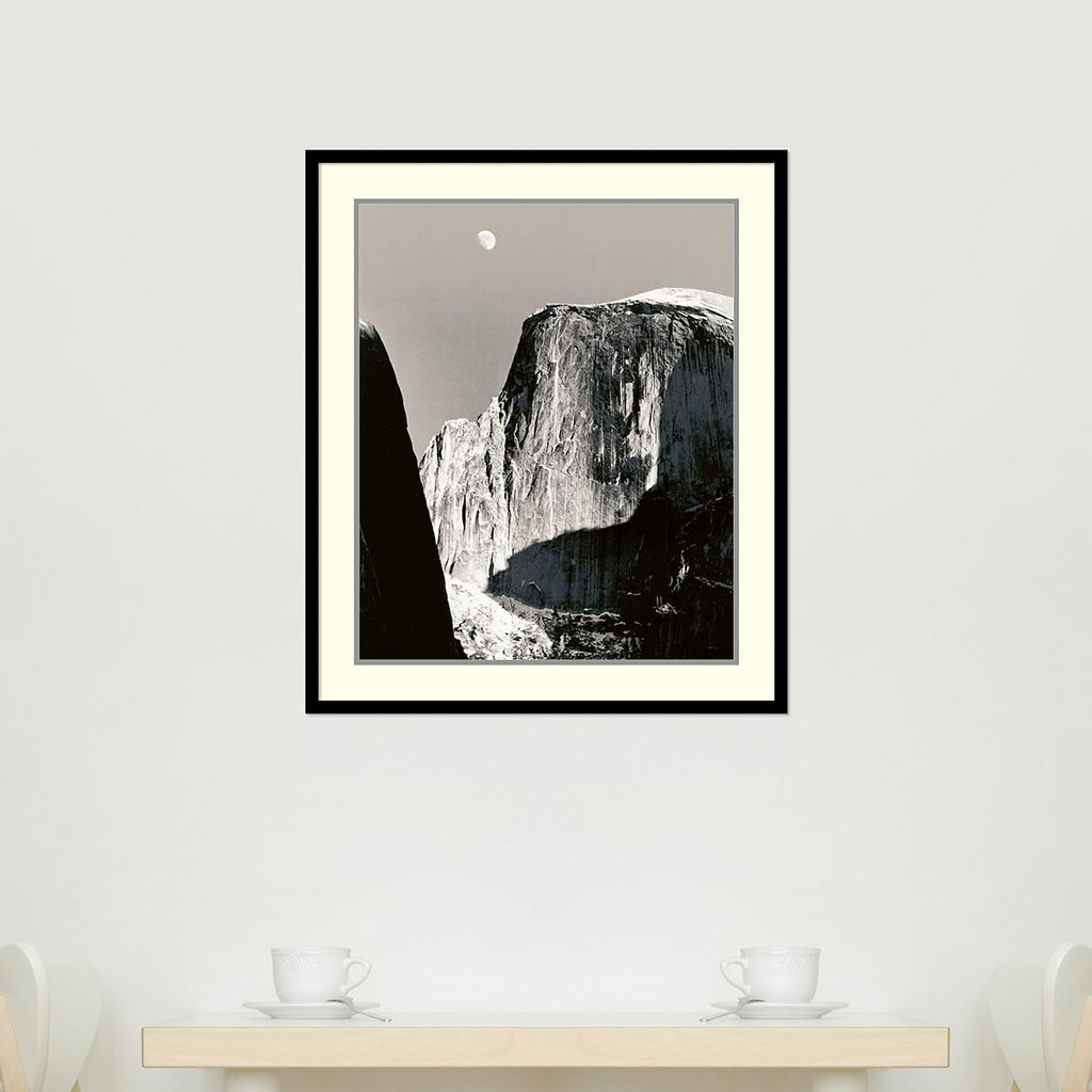 Moon Over Half Dome Framed Wall Art