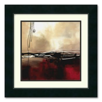 Symphony in Red and Khaki I Framed Wall Art