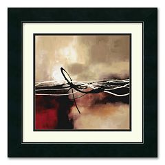 'Symphony in Red & Khaki II' Framed Wall Art