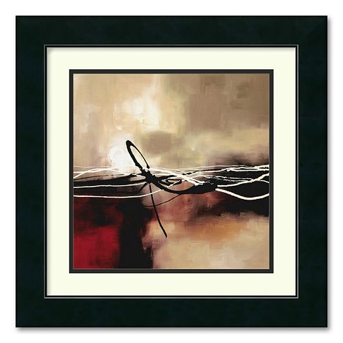 """Symphony in Red & Khaki II"" Framed Wall Art"