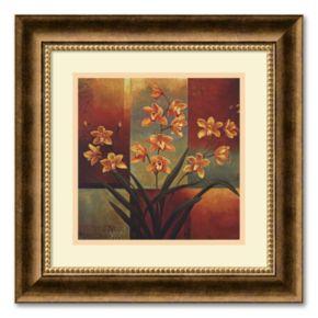Orange Orchid Framed Wall Art