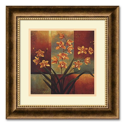 """Orange Orchid"" Framed Wall Art"