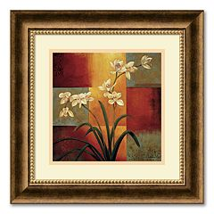 'White Orchid' Framed Wall Art