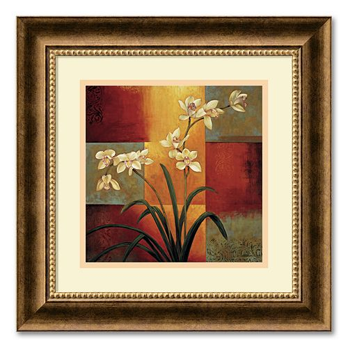 """White Orchid"" Framed Wall Art"