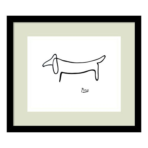 """Le Chien (The Dog)"" by Pablo Picasso Framed Wall Art"