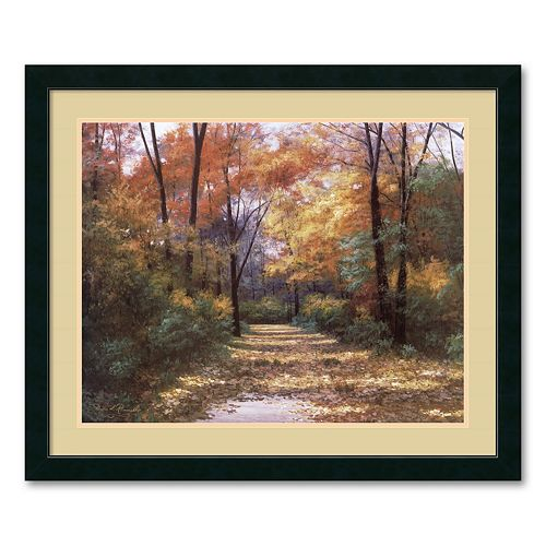 """Autumn Road"" Framed Wall Art"