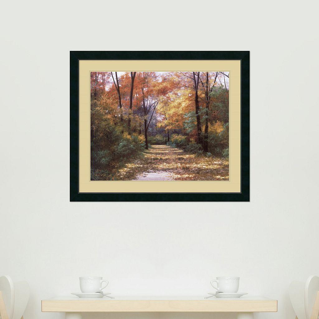 Autumn Road Framed Wall Art