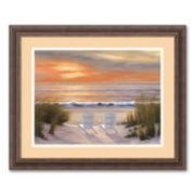 """Paradise Sunset"" Framed Wall Art"