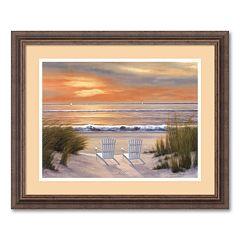 'Paradise Sunset' Framed Wall Art