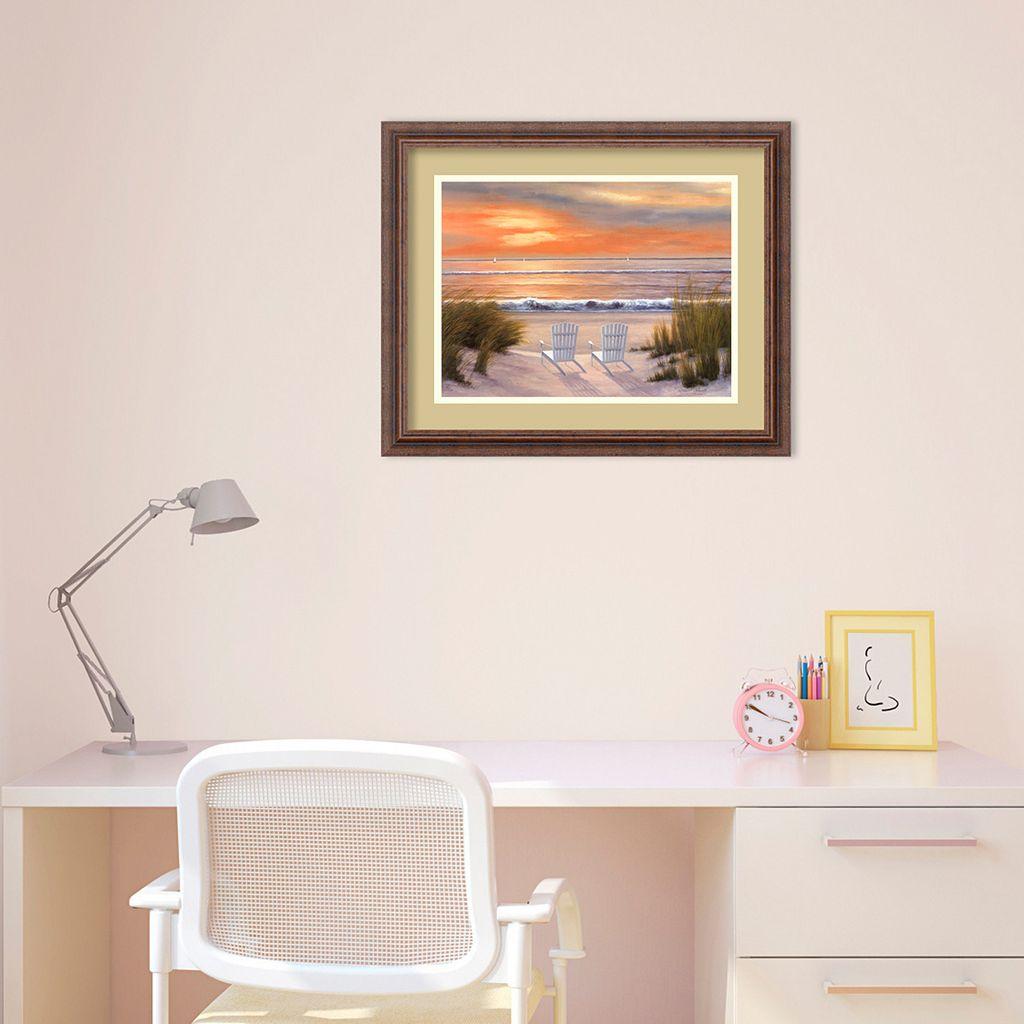 Paradise Sunset Framed Wall Art
