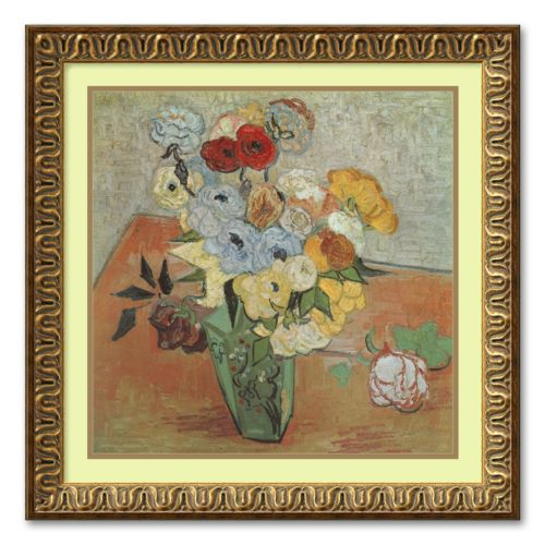 Roses and Anemones Framed Wall Art