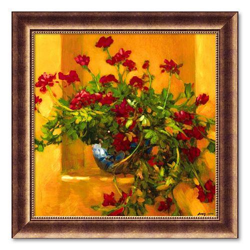 """""""Ivy Geraniums"""" Framed Wall Art"""