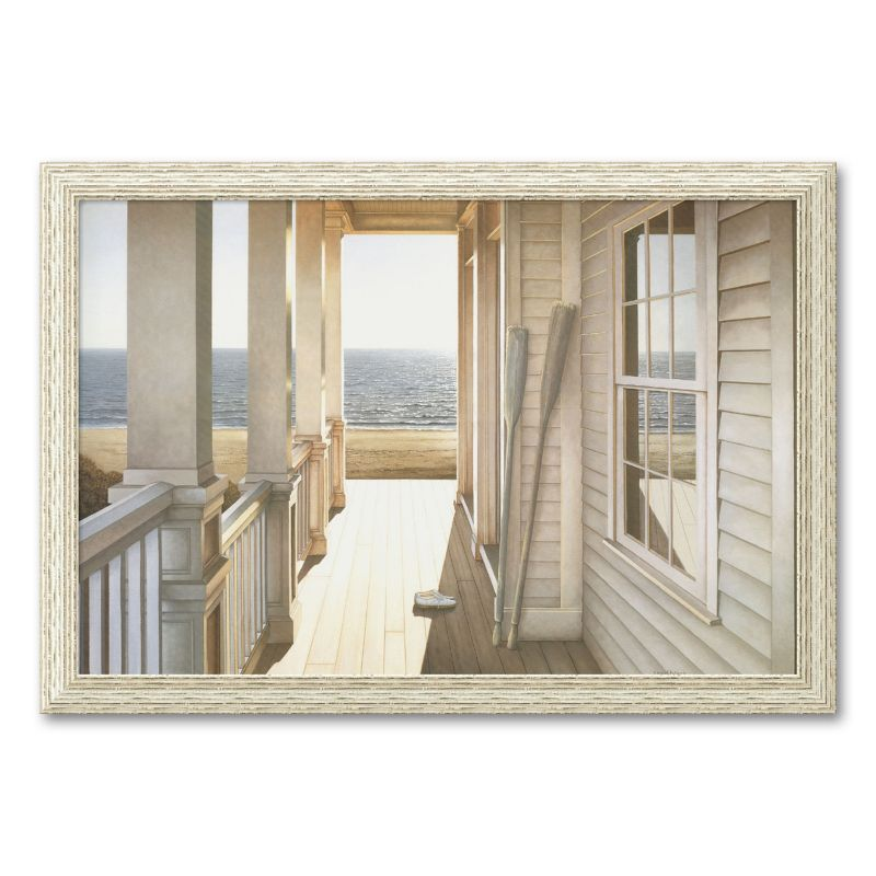 Serenity Framed Wall Art, White
