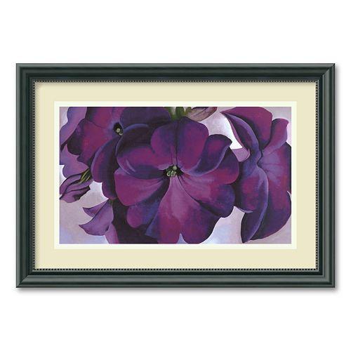 """Petunias, 1925"" Framed Wall Art"