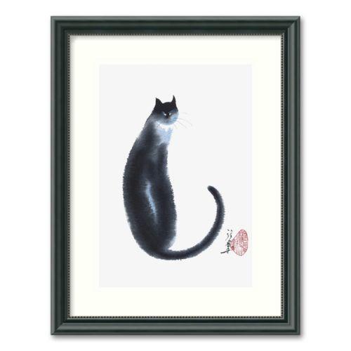 Chinese Cat II Framed Wall Art