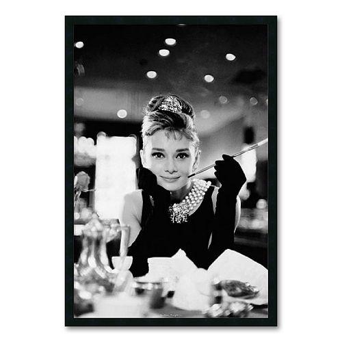 """""""Audrey Hepburn, Breakfast at Tiffany's"""" Framed Wall Art"""