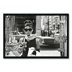 'Audrey Hepburn, Breakfast at Tiffany's' Framed Wall Art
