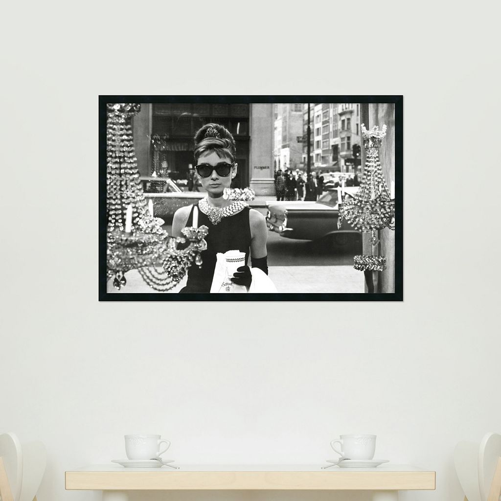 Audrey Hepburn, Breakfast at Tiffany's Framed Wall Art