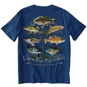 Old Country Outfitters Live To Fish Tee - Big and Tall